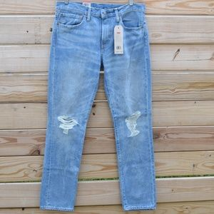 LEVI'S 511 Slim Distressed & Ripped Blue Jeans 32